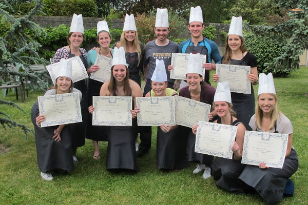 Certificate from our Cooking School In France